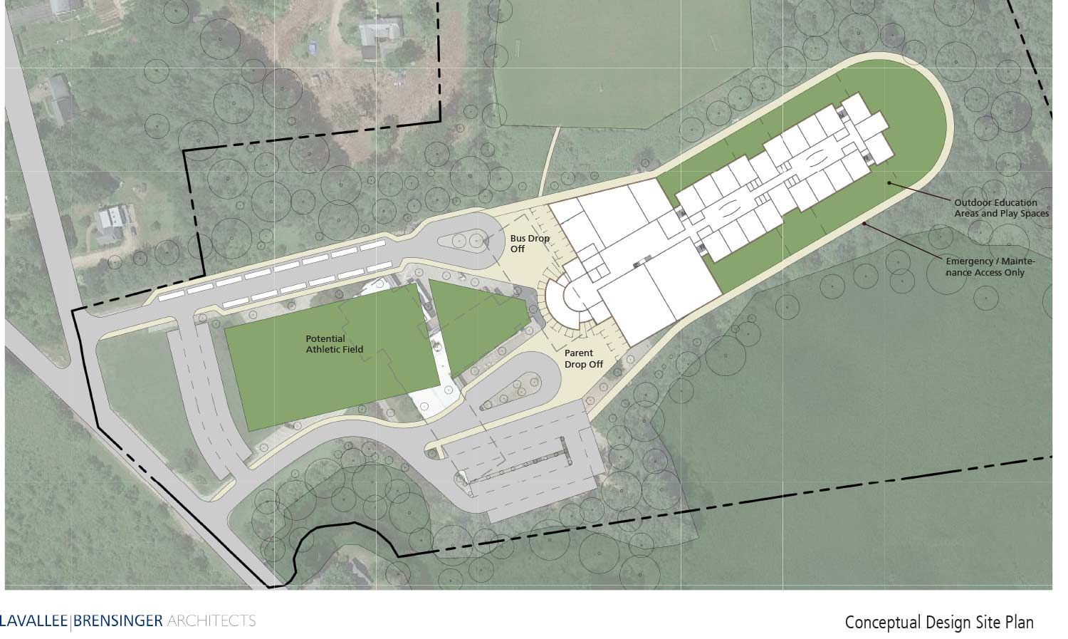 CWS Lot Layout Concept Design - Amherst, NH