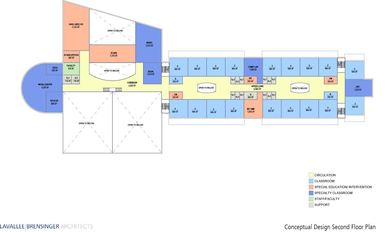 CWS Concept Design, 2nd Floor Plan - Amherst, NH