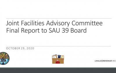 JFAC Final Report to SAU 39 Board
